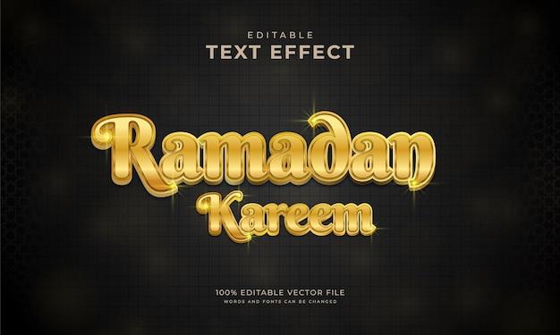 Ramadan kareem bearbeitbarer gold-texteffekt
