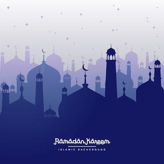 Ramadan kareem blauer hintergrund