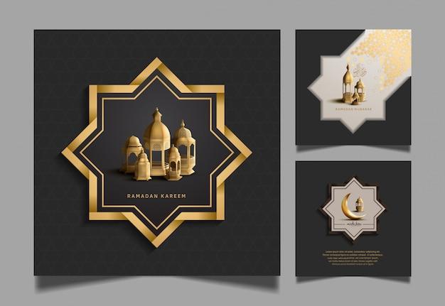 Ramadan kareem bühnenbilder für die feier des heiligen ramadan
