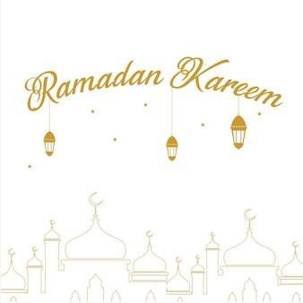 Ramadan kareem design hintergrund