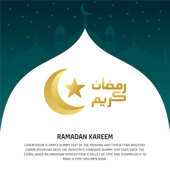 Ramadan kareem design-vorlage