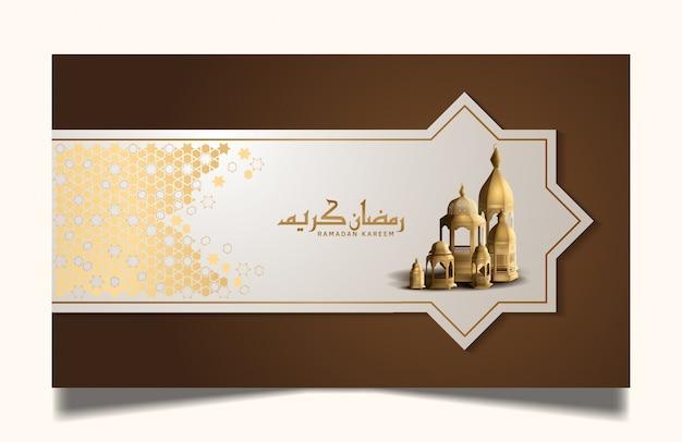 Ramadan kareem entwirft für heilige ramadanfeier