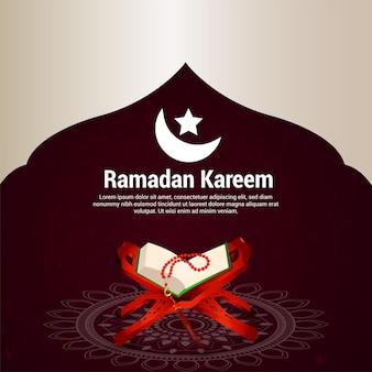 Ramadan kareem feier grußkarte
