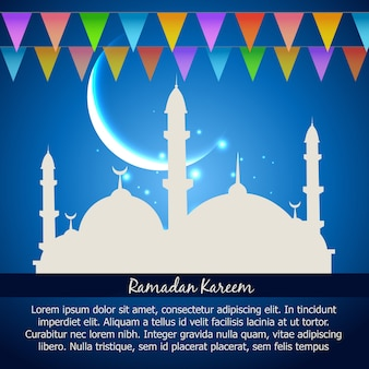 Ramadan kareem feier vektor hintergrund