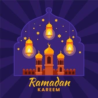 Ramadan kareem flaches design