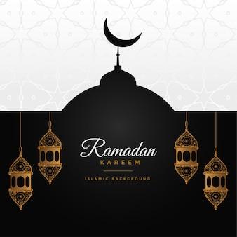 Ramadan kareem genial design hintergrund