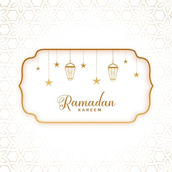 Ramadan kareem gruß im flachen stil