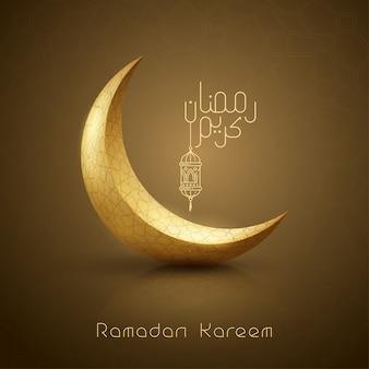 Ramadan kareem gruß islamischer entwurf