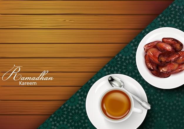 Ramadan kareem grußfahne