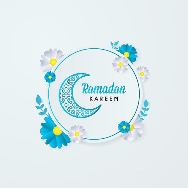 Ramadan kareem grußkarte blume