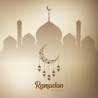 Ramadan kareem grußkarte design