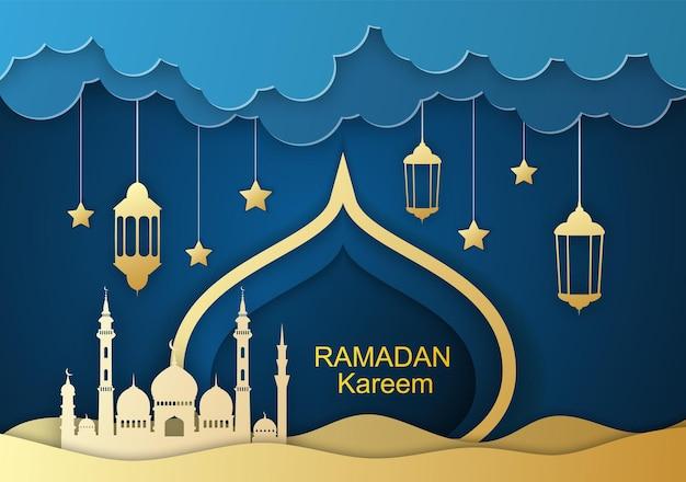 Ramadan kareem-grußkarte,