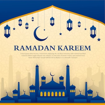 Ramadan kareem grußkarten-design