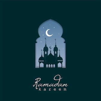 Ramadan kareem grußkartenentwurf