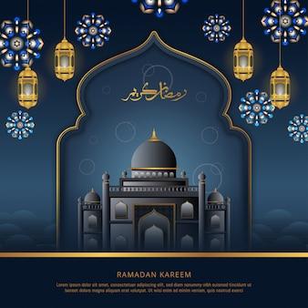 Ramadan kareem-grußkartenentwurf