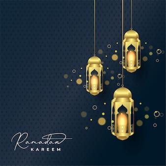 Ramadan kareem grußkartenhintergrund