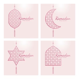 Ramadan kareem grußkartenillustration.