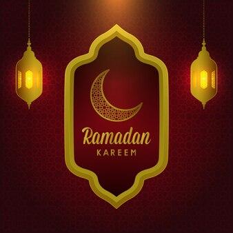 Ramadan kareem heilige islamische monatsschablone