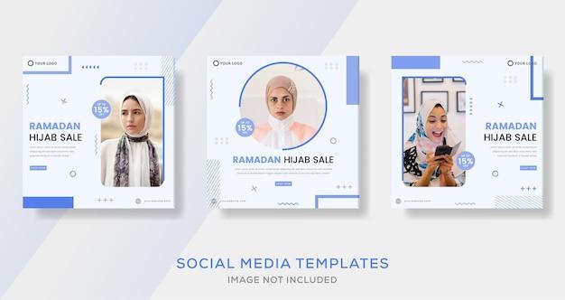 Ramadan kareem hijab banner für mode verkauf vorlage beitrag