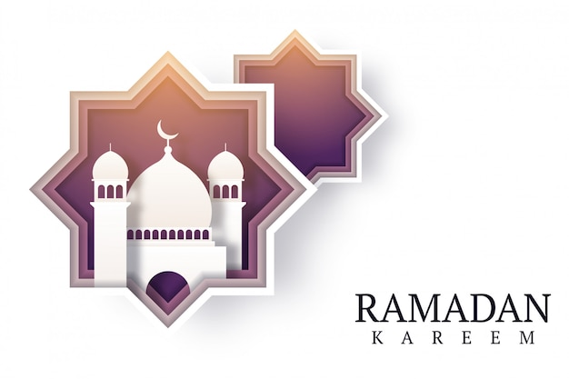 Ramadan kareem hintergrund design illustration