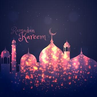 Ramadan kareem hintergrund gruß