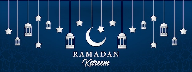Ramadan kareem hintergrund in papier handwerk stil