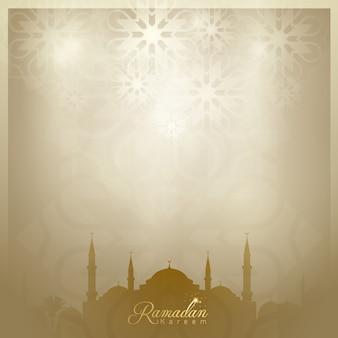 Ramadan kareem hintergrund islamischer gruß