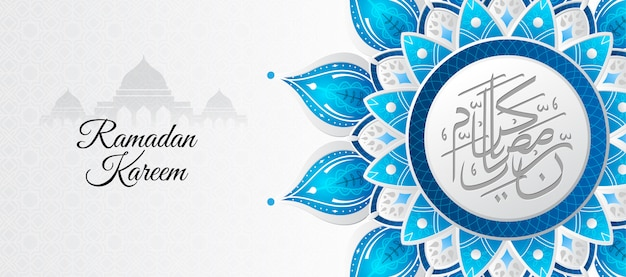Ramadan kareem hintergrund mit mandala