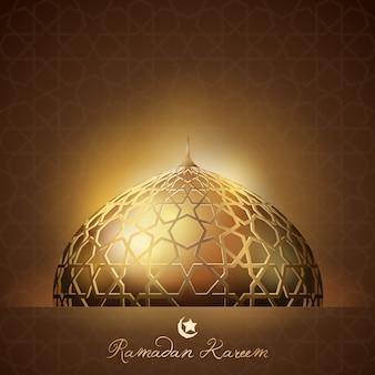 Ramadan kareem-hintergrundglühenlicht
