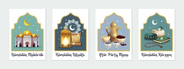 Ramadan kareem illustrationskarte Kostenlosen Vektoren