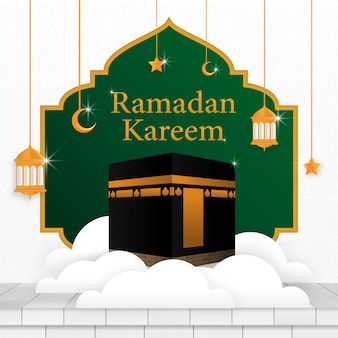 Ramadan kareem islamische hintergrundvorlagendesign