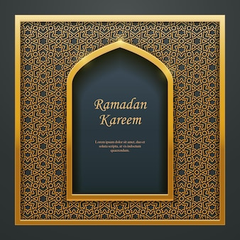 Ramadan kareem islamische moschee tür fenster maßwerk