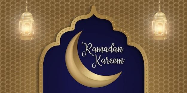 Ramadan kareem islamische social media banner hintergrund design