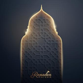 Ramadan kareem islamische vektordesign
