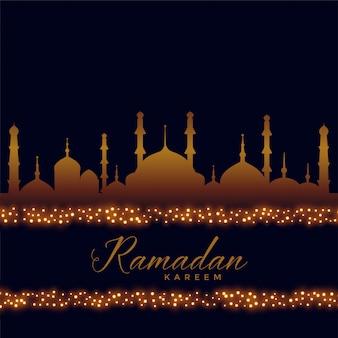 Ramadan kareem islamischer hintergrund