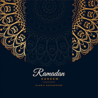 Ramadan kareem islamischer mandalamusterhintergrund