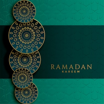 Ramadan kareem islamisches dekoratives musterdesign