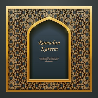 Ramadan kareem islamisches design moschee türfenster maßwerk, ideal für orientalische grußkarten-web-banner-design.