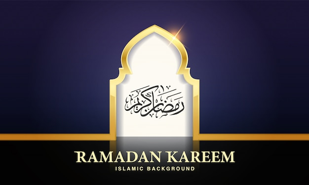 Ramadan kareem islamisches design moscheetür zur begrüßung hintergrund ramadan kareem.