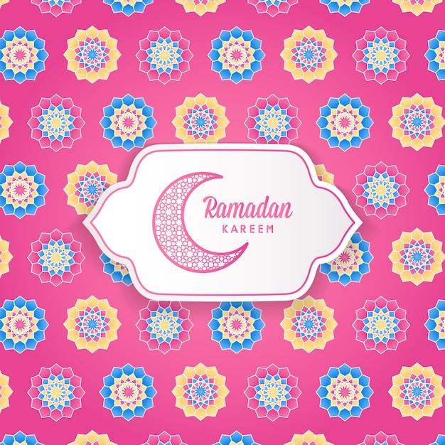 Ramadan kareem islamisches geometrisches blumenmuster