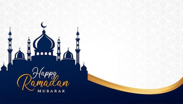 Ramadan kareem islamisches hintergrunddesign mit moscheenillustration. kann für grußkarten, kulissen oder banner verwendet werden Premium Vektoren