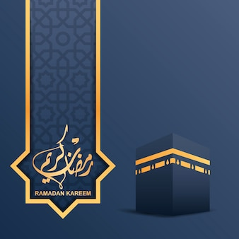 Ramadan-kareem-konzept mit kalligraphischem texthintergrund