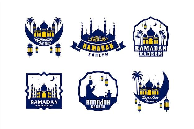 Ramadan kareem label design kollektion