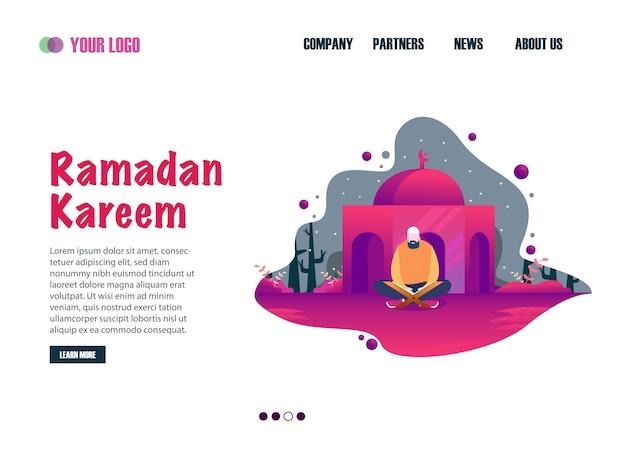 Ramadan kareem landing page