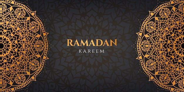 Ramadan kareem luxus mandala muster arabisch islamischen stil hintergrund