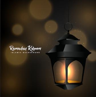 Ramadan kareem mit laterne