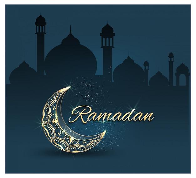 Ramadan kareem mit verzierten