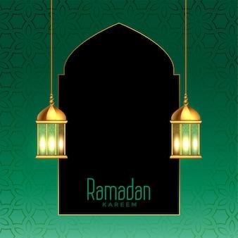 Ramadan kareem schöner festivalkartenhintergrund
