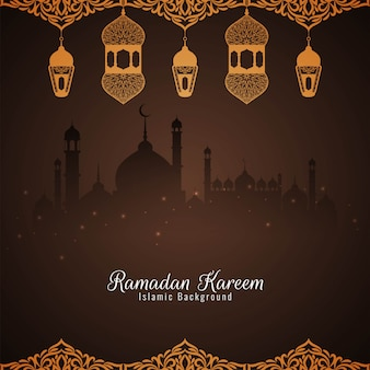 Ramadan kareem schöner islamischer hintergrund