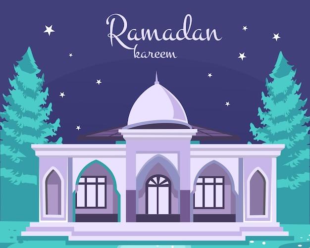 Ramadan kareem. szene mit moschee